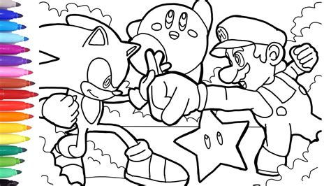 Sonic Vs Mario Coloring Pages, How To Draw Mario, How To