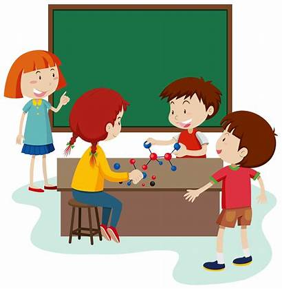 Classroom Student Study Vector Molecule Clipart Related