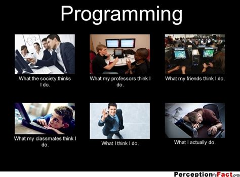 Funny Programming Memes - programming what people think i do what i really do perception vs fact