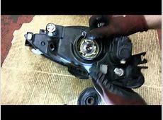 How to Change Replace Headlamp Headlight Bulbs Peugeot 206
