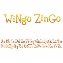 sizzix sizzlits decorative strip alphabet die wingo With zingo letters