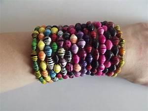 Comment Faire Un Bracelet En Perle : bracelet perle en papier ~ Melissatoandfro.com Idées de Décoration