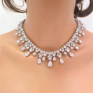 Bridal statement necklace and earrings wedding necklace for Wedding ring necklace