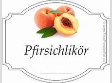 Gratis Etikettenvorlagen für Pfirsichlikör PDF Drucken