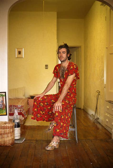 portraits  men wearing  girlfriends clothes