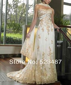 Custom golden wedding anniversary dress gown size 4 6 8 10 for Golden wedding anniversary dresses
