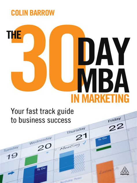 mba in digital marketing the 30 day mba in marketing overdrive digital books