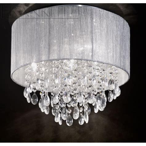 Franklite Fl22814 Royale Crystal Flush Ceiling Light
