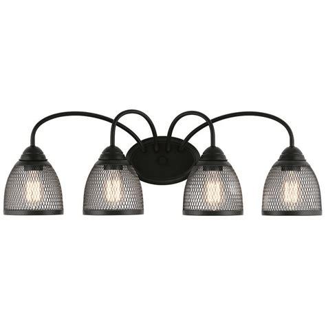 kichler lighting voclain black bathroom light bk