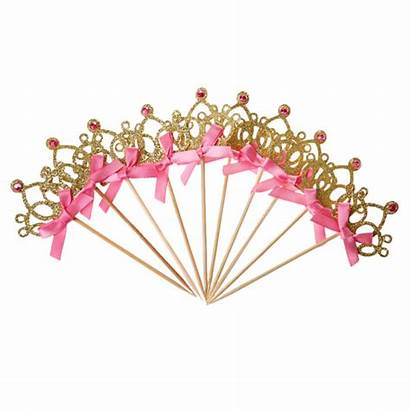 Crown Cake Topper Jeweled Cupcake Toppers Princess