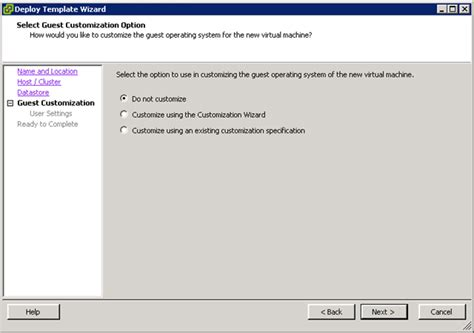 convert to template grayed out vmware vmware esx deploy template wizard and ms sysprep guest