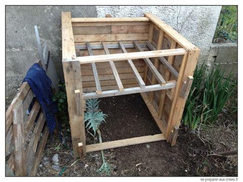 bac poubelle cuisine construire un composteur gratuit en bois de palette se