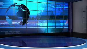 News Tv Studio Set 245 Virtual Green Screen Background ...