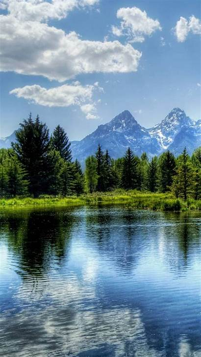Nature Forest Iphone Lake Landscape Mountains Background