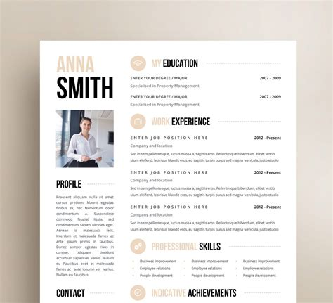 professional resume template clean modern resume