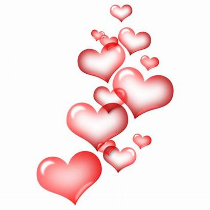 Hearts Floating Background Pink Heart Transparent Clipart