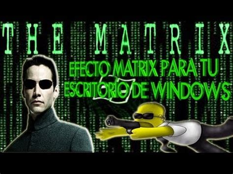 fondos de escritorio  movimiento estilo matrix youtube