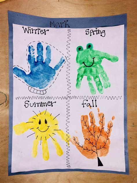 season handprint craft daycare crafts handprint crafts