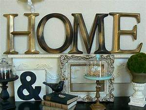 pottery barn style wall letters quothomequot by shabby chic home With pottery barn wall letters