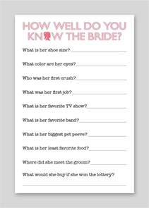 wedding quizzes diy printable shower quiz 12 00 via etsy is but a