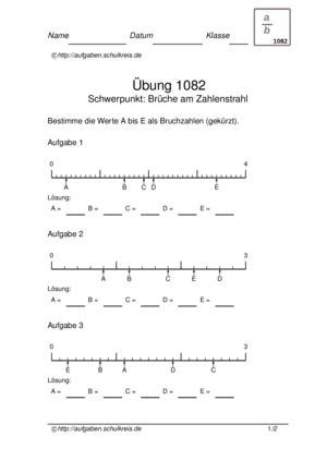 brüche zahlenstrahl brüche zahlenstrahl übungsblatt 1082