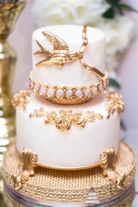 white and gold cake g 226 teau white gold wedding cakes 2257365 weddbook 1294