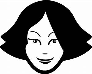 Young Woman Face Clip Art at Clker.com - vector clip art ...
