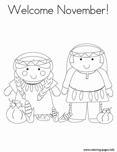 Coloring November Pages Welcome Printable Preschoolers Month