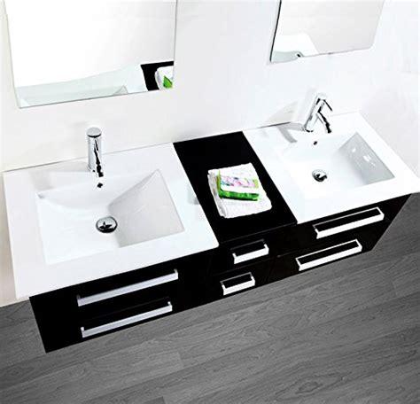 waschbecken 2 armaturen luxus4home design doppel badm 246 bel set quot serpia dual quot schwarz waschtisch set 150cm inkl 2