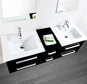 Badmöbel Set 2 Waschbecken : luxus4home design doppel badm bel set serpia dual schwarz waschtisch set 150cm inkl 2 ~ Bigdaddyawards.com Haus und Dekorationen