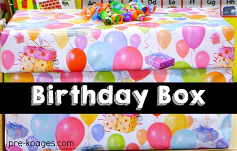 celebrating student birthdays in preschool pre k and 404 | Birthday Box to Store Supplies for Celebrating Birthdays in Preschool and Kindergarten