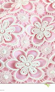 Detail Of Pink Lace Fabric With Pearl Stock Image - Image ...