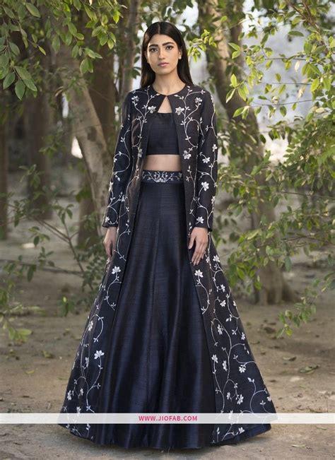 buy  black party wear designer lehenga choli
