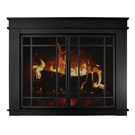 home depot fireplace doors pleasant hearth fillmore medium glass fireplace doors fl