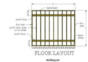 8x10 Shed Plans Free by Rim Joist In Shed Floor Framing