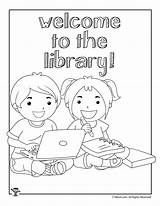 Library Coloring Pages Printable Activities Welcome Hidden Drawing Word Puzzles Preschool Reading Woojr Woo Jr Books Librarian Printables Skills Bookworm sketch template