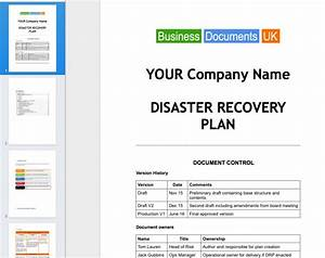 disaster recovery plan template template business With disaster recovery procedures template