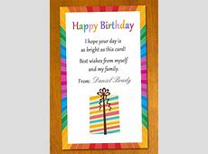Free Sample Birthday Card Template