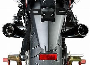 M4 Exhaust Black Retro Drag Slip Ons 2008 2011 Kawasaki