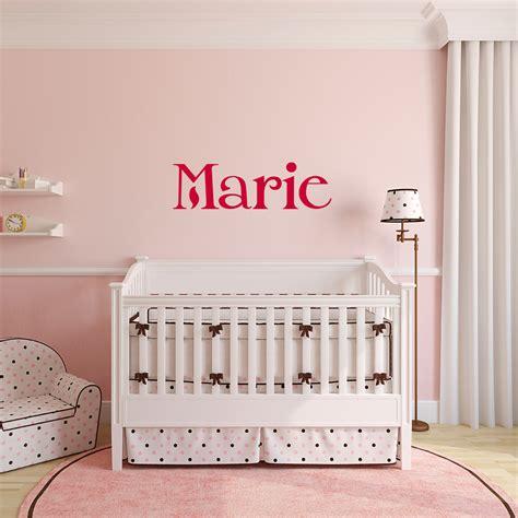 stickers chambre bébé personnalisé sticker prénom personnalisé classique merveilleux