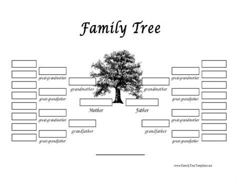 family tree templates word  psd apple pages