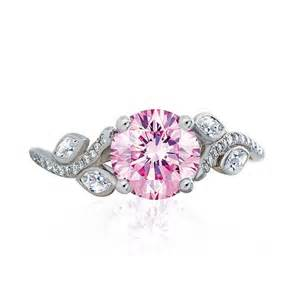 pink wedding ring de beers adonis solitaire pink engagement ring in plat