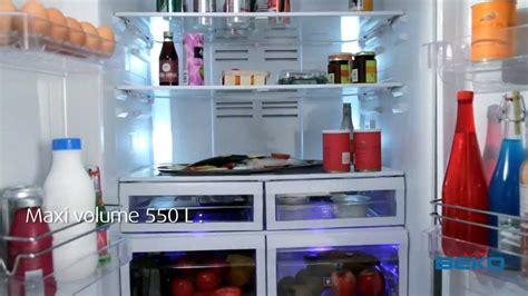 refrigerateur  portes beko youtube