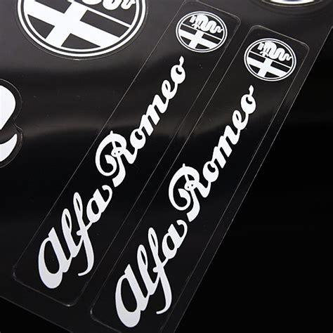Alfa Romeo Stickers Set(white)  Italian Auto Parts & Gagets