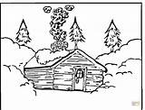 Coloring Log Pages Cabin Printable Cabins Colouring Mountain Wood Adult Woods Template Books Christmas Activities Supercoloring Winter Snowy Worksheets Houses sketch template