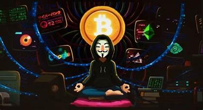 Hacker Anonymous Bitcoin Wallpapers Meditation 4k Desktop