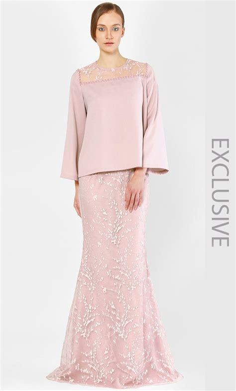 kurung kedah  full sakura lace  rose  idea