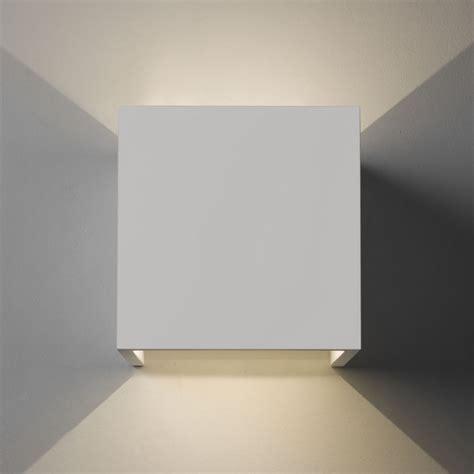 astro lighting 7152 pienza led 3000k white plaster cube