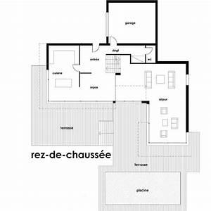 Plan Maison Contemporaine Toit Plat : plan maison architecte toit plat ~ Nature-et-papiers.com Idées de Décoration
