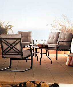 sonoma outdoors 4 pc bayview loveseat chair coffee With 4 pc coffee table set
